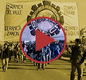 Bandera de Cerámica Zanon con ícono de video play